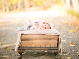 Photo of newborn baby in the park